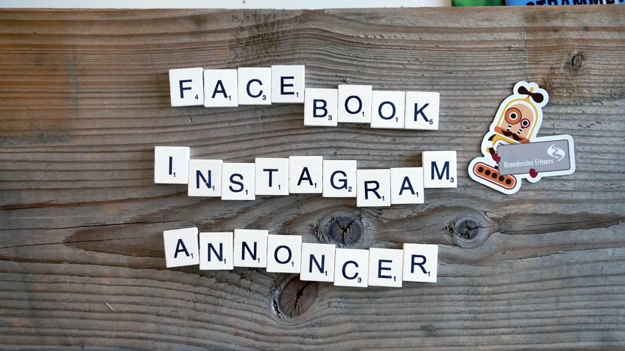 Annoncer på Facebook og Instagram